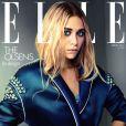Ashley Olsen porte un manteau Prada en couverture du magazine Elle UK d'avril 2012.