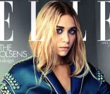 Ashley Olsen porte un manteau Prada en couverture du magazine Elle UK d'avril 2012.