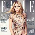 Ashley Olsen habillée d'une robe Dolce & Gabbana en couverture du magazine Elle UK d'avril 2012.