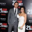 Chaninng Tatum et sa femme Jena Dewan à l'avant-première du film 21 Jump Street, à Los Angeles le 13 mars 2012