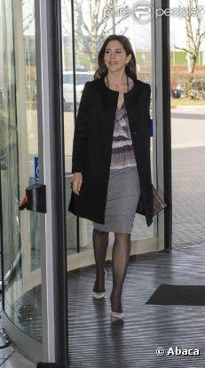 La princesse Mary de Danemark au Bella Center de Copenhague le 14 mars 2012 pour une conférence sur les pratiques médicamenteuses et l'accoutumance aux antibiotiques.