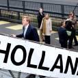 Le prince Willem-Alexander des Pays-Bas embarque à Amsterdam, le 14 mars 2012, pour escorter au musée maritime de Greenwich une pièce exceptionnelle...