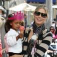 Heidi Klum, sa maman et ses filles Leni et Lou sont allées chercher Johan et Henry Samuel à leur cours de karaté avant de faire du shopping et de s'amuser, à Beverly Hills, le 24 mars 2012