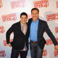 Jason Biggs et Chris Klein à l'avant-première d'American Pie 4 à Paris, le 26 mars 2012.