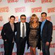 Jason Biggs, Chris Klein, Jennifer Coolidge et Eugene Levy à l'avant-première d'American Pie 4 à Paris, le 26 mars 2012.