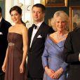 Dïner de gala au palais Christian VII à Amalienborg, Copenhague, le 26 mars 2012, en l'honneur du prince Charles et de Camilla Parker Bowles, en tournée en Scandinavie pour le jubilé de diamant de la reine Elizabeth II.