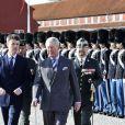 Le prince Charles et Camilla Parker Bowles en visite avec le prince Frederik et la princesse Mary de Danemark à la citadelle Kastellet de Copenhague, le 26 mars 2012, pour une cérémonie commémorative au memorial national danois et une rencontre avec des familles de militaires. Charles et Camilla sont en tournée en Scandinavie pour le jubilé de diamant de la reine.