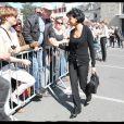 Rachida Dati prend un bain de foule en Loire-Atlantique, à Guérande, lors d'un déplacement avec Nicolas Sarkozy. Le 27 mars 2012
