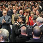 Rachida Dati et Nicolas Sarkozy : Complicité et bise très chaleureuse !