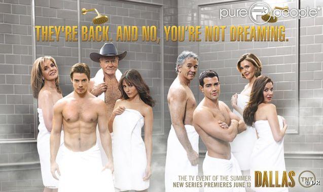 Campagne publicitaire pour le retour de  Dallas  sur la chaîne TNT.