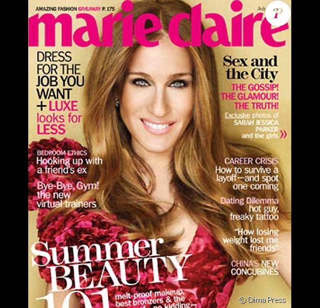Sarah Jessica Parker couverture du Marie Claire US