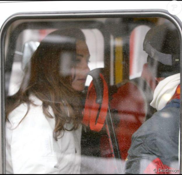 Le prince William et Kate Middleton à Zermatt (Alpes suisses) en mars 2007.