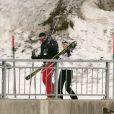 Le prince William et Kate Middleton aux sports d'hiver à Klosters (Alpes suisses) en mars 2008.