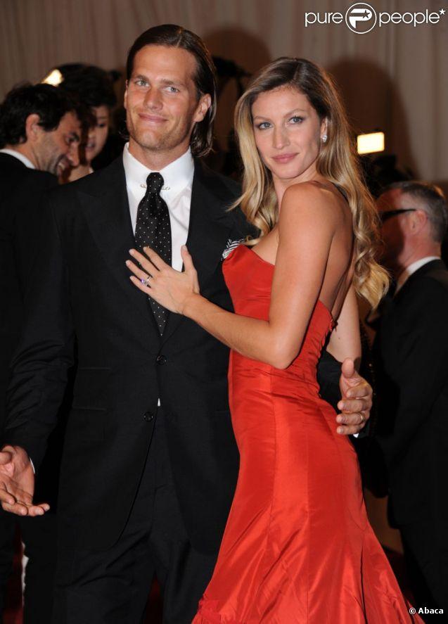 Gisele Bündchen et Tom Brady lors du gala du Costume Institute à New York en mai 2011.