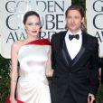 Brad Pitt et Angelina Jolie aux Golden Globes, en janvier 2012 à Los Angeles.
