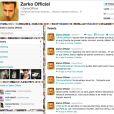 Capture d'écran du twitter de Zarko
