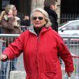 Véronique de Villèle, la célèbre Véronique qui animait l'émission culte de France 2  Gym Tonic  au côté de Davina, au meeting de Nicolas Sarkozy place de la Concorde à Paris, dimanche 15 avril 2012.