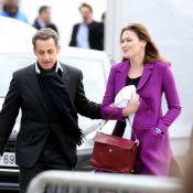 La Concorde : Carla Bruni et les people à fond pour Nicolas Sarkozy