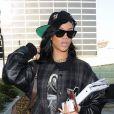 Rihanna de retour à Los Angeles le 12 avril 2012.