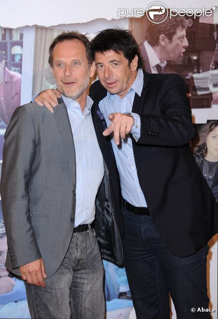 Charles Berling et Patrick Bruel  à l'avant-première du  Prénom , à Paris le 23 avril 2012.
