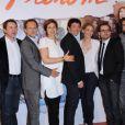 Mathieu Delaporte, Guillaume De Tonquedec, Charles Berling, Valerie Benguigui, Patrick Bruel, Judith El Zein et le producteur Alexandre de La Patelliere à l'avant-première du  Prénom , à Paris le 23 avril 2012.