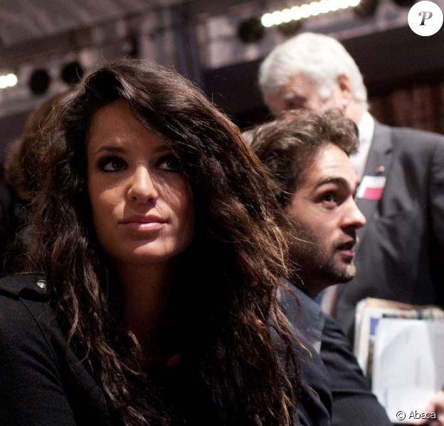 Jade Foret au premier rang de l'assemblée générale des actionnaires de Lagardère, à Paris, le 3 mai 2012.