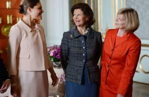 La princesse Victoria quitte Estelle un moment pour le président Joachim Gauck