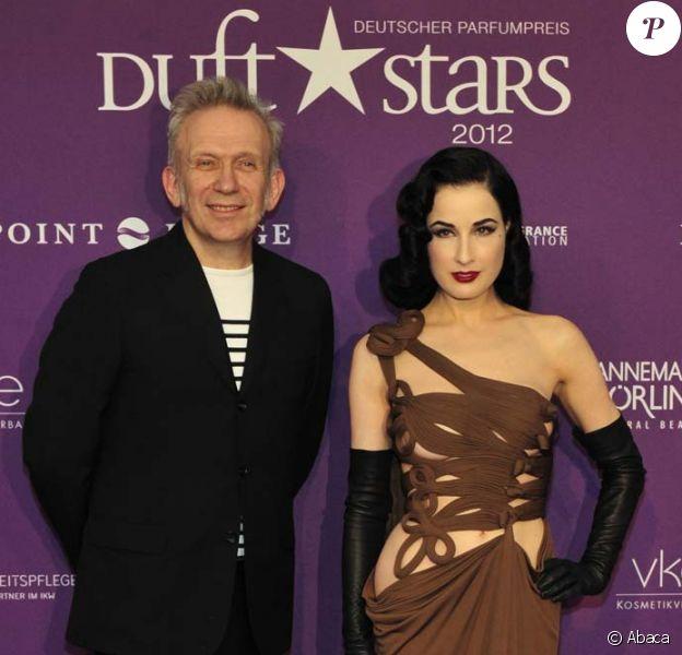 Dita Von Teese et Jean-Paul Gaultier aux Duftstars Awards à Berlin, le 4 mai 2012.