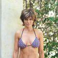 Lisa Rinna prend la pose alors qu'elle emmène sa fille au Parc de Santa Monica à Los Angeles le 9 mai 2012