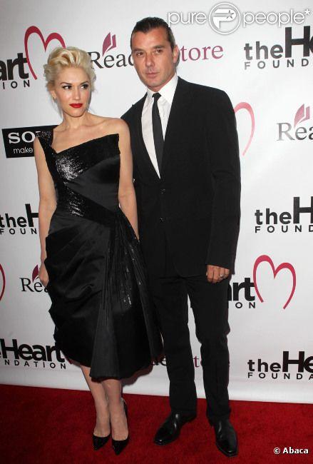 Gwen Stefani et son mari Gavin Rossdale au Gala 2012 de la Heart fondation, à Los Angeles, le 10 mai 2012
