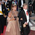 Le prince Leopold de Bavière et la princesse Ursula arrivent pour le dîner donné lors du mariage d'Albert et Charlene de Monaco le 2 juillet 2011.