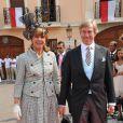 Le prince Leopold de Bavière et la princesse Ursula au mariage d'Albert et Charlene de Monaco le 2 juillet 2011.