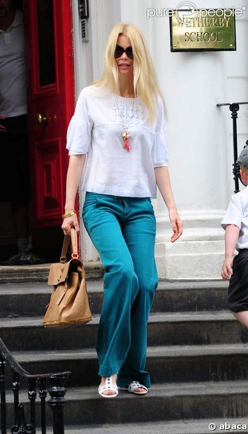 Claudia Schiffer à Londres, le 9/06/08