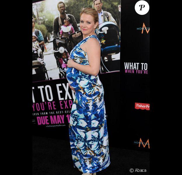 Melissa Joan Hart enceinte à l'avant-première de Ce qui vous attend si vous attendez un enfant, à Los Angeles le 14 mai 2012.