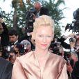 Tilda Swinton et Wes Anderson sur le tapis rouge de l'ouverture du festival de Cannes 2012 le 16 mai