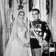 Grace de Monaco lors de son mariage avec le prince Rainier, en 1956.
