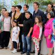 L'équipe du film lors du photocall de Reality au festival de Cannes le 18 mai 2012