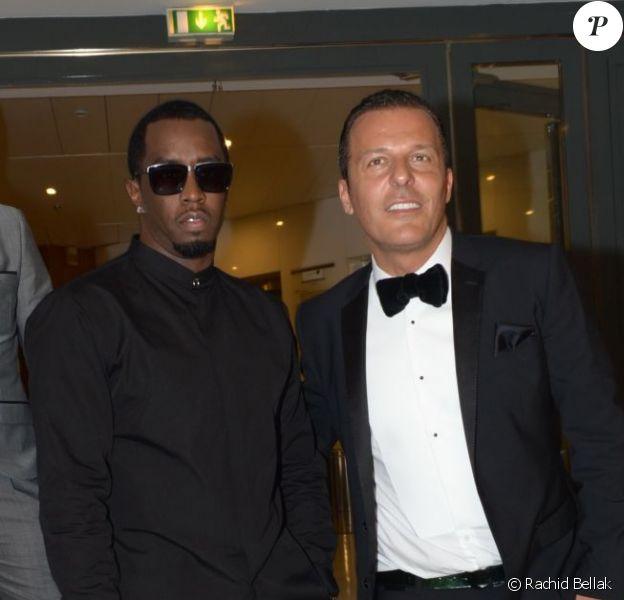 P. Diddy et Jean-Roch au VIP ROOM de Cannes le 16 mai 2012