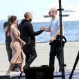 Kanye West et sa chérie Kim Kardashian sont arrivés à Cannes, le 23 mai 2012