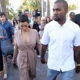 Kanye West et Kim Kardashian sur la Croisette à Cannes le 23 mai 2012