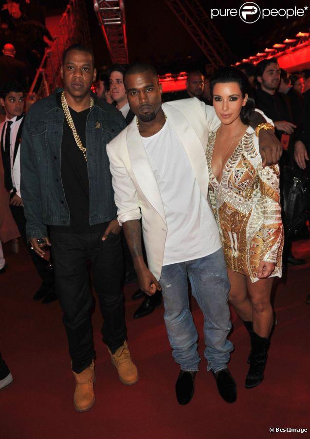 Kanye et Kid Cudi au Gotha Club pour une soirée mémorable organisée dans le cadre du Festival de Cannes 2012, et à l'occasion de la projection du film de Kanye.
