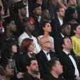Kanye et Kim, entourés de leurs amis, découvrent le court métrage Cruel Summer, de Kanye, au Gotha Club, à Cannes. Mai 2012