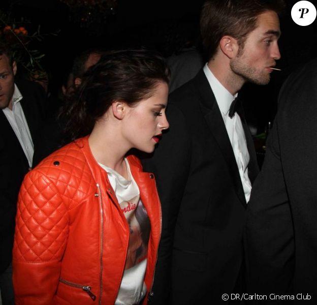 Kristen Stewart et Robert Pattinson lors d'une soirée pour le film Cosmopolis au Carlton Cinema Club à Cannes le 25 mai 2012