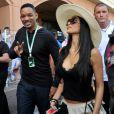 Will Smith et Nicole Scherzinger très décolletée lors des essais du Grand Prix de Formule 1 à Monaco le 26 mai 2012