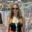 Jennifer Lawrence lors des essais du Grand Prix de Formule 1 à Monaco le 26 mai 2012