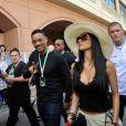 Will Smith et Nicole Scherzinger lors des essais du Grand Prix de Formule 1 à Monaco le 26 mai 2012