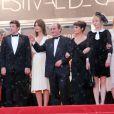 Guy Marchand, Ludivine Sagnier, Patrick Bruel, Marina Hands, Richard Bohringer, Romane Bohringer et Julie Depardieu enceinte lors de la cérémonie de clôture du Festival de Cannes, le 27 mai 2012.