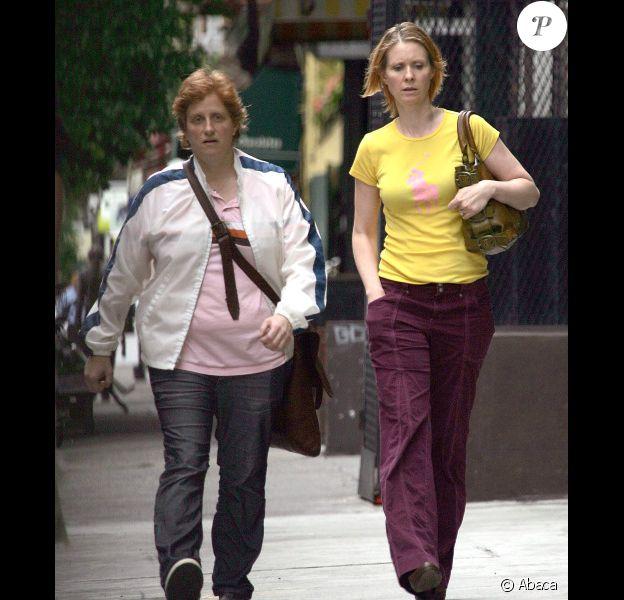 Cynthia Nixon et sa compagne Christine Marinoni à New York, en mai 2010