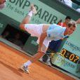 Richard Gasquet au bout de l'épuisement lors de son match face à Grigor Dimitrov le 31 mai 2012 à Roland-Garros