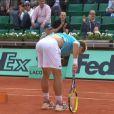 Richard Gasquet malade après avoir poussé son adversaire Grigor Dimitrov au bord de l'épuisement lors d'un échange historique entre les deux hommes à Roland-Garros le 31 mai 2012